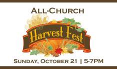 All-Church Harvest Fest - Oct 21 2018 5:00 PM