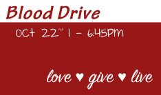 Blood Drive - Oct 22 2018 1:00 PM