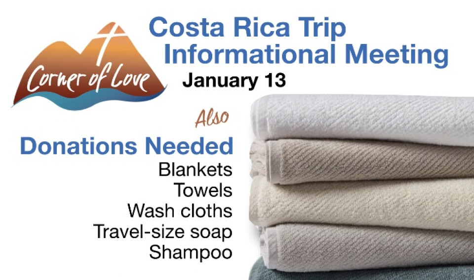 Costa Rica Trip Information Meeting