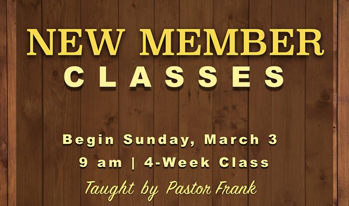 New Member Classes - Mar 3 2019 9:00 AM