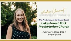 Andrea Ordination - Feb 28 2021 1:00 PM